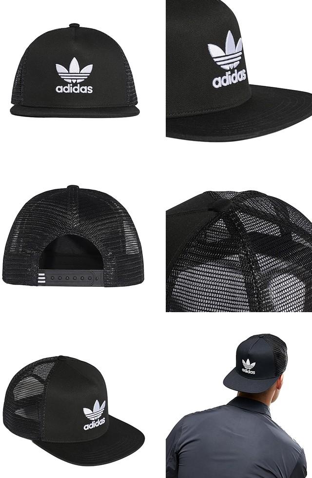 8cecd0bb97194 アディダス オリジナルス キャップ 帽子 ロゴキャップ メッシュキャップ ストラップバック スナップ メンズ レディース adidas  Originals TREFOIL TRUCKER CAP
