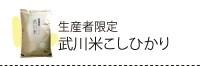 生産者限定武川米コシヒカリ