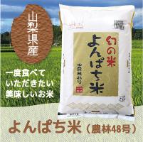 山梨県産幻のお米よんぱち米(農林48号)