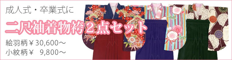 卒業式向け女性用着物袴セット