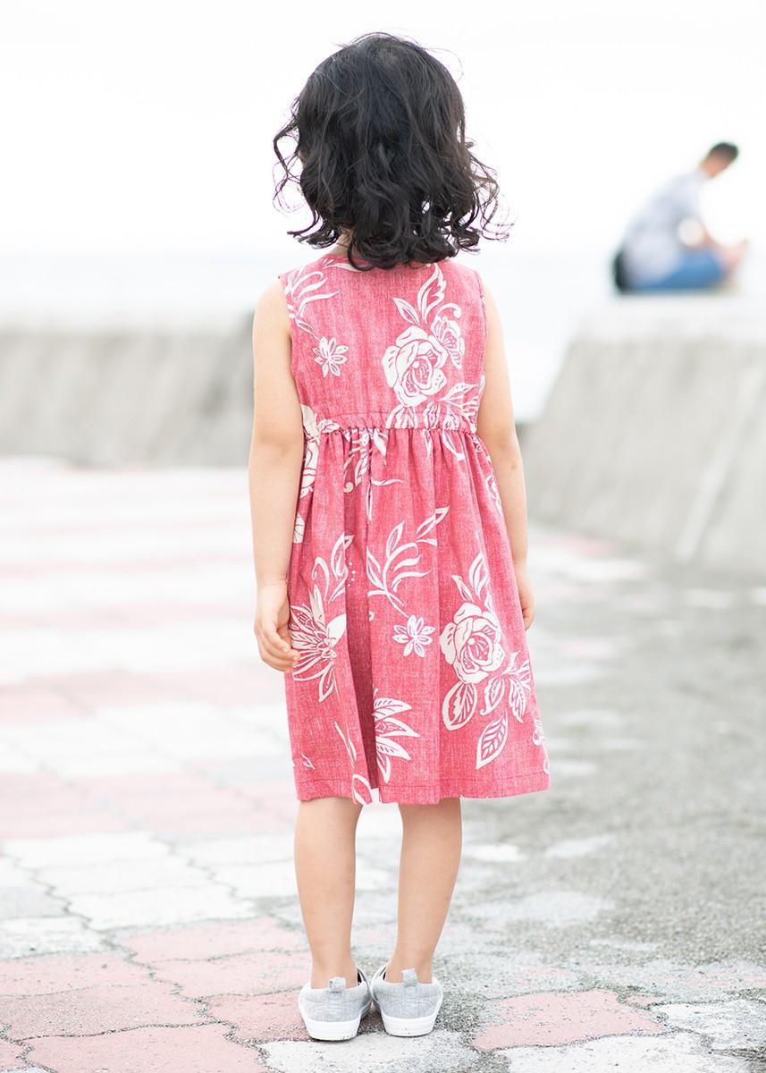 かりゆしウェア アロハシャツ かりゆし 結婚式 MAJUN マジュン でいごゆうな(キッズワンピース)