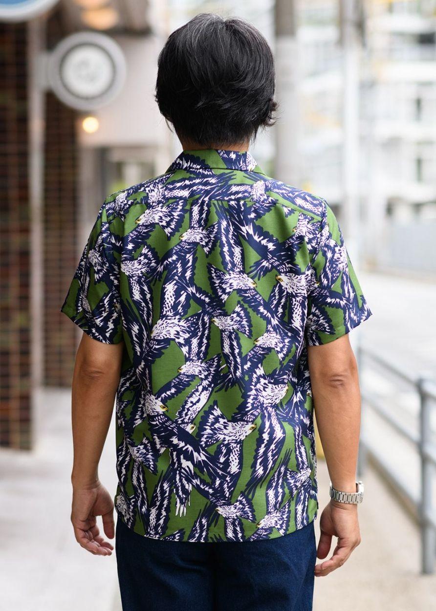 かりゆしウェア アロハシャツ かりゆし 結婚式 MAJUN マジュン カンムリワシ