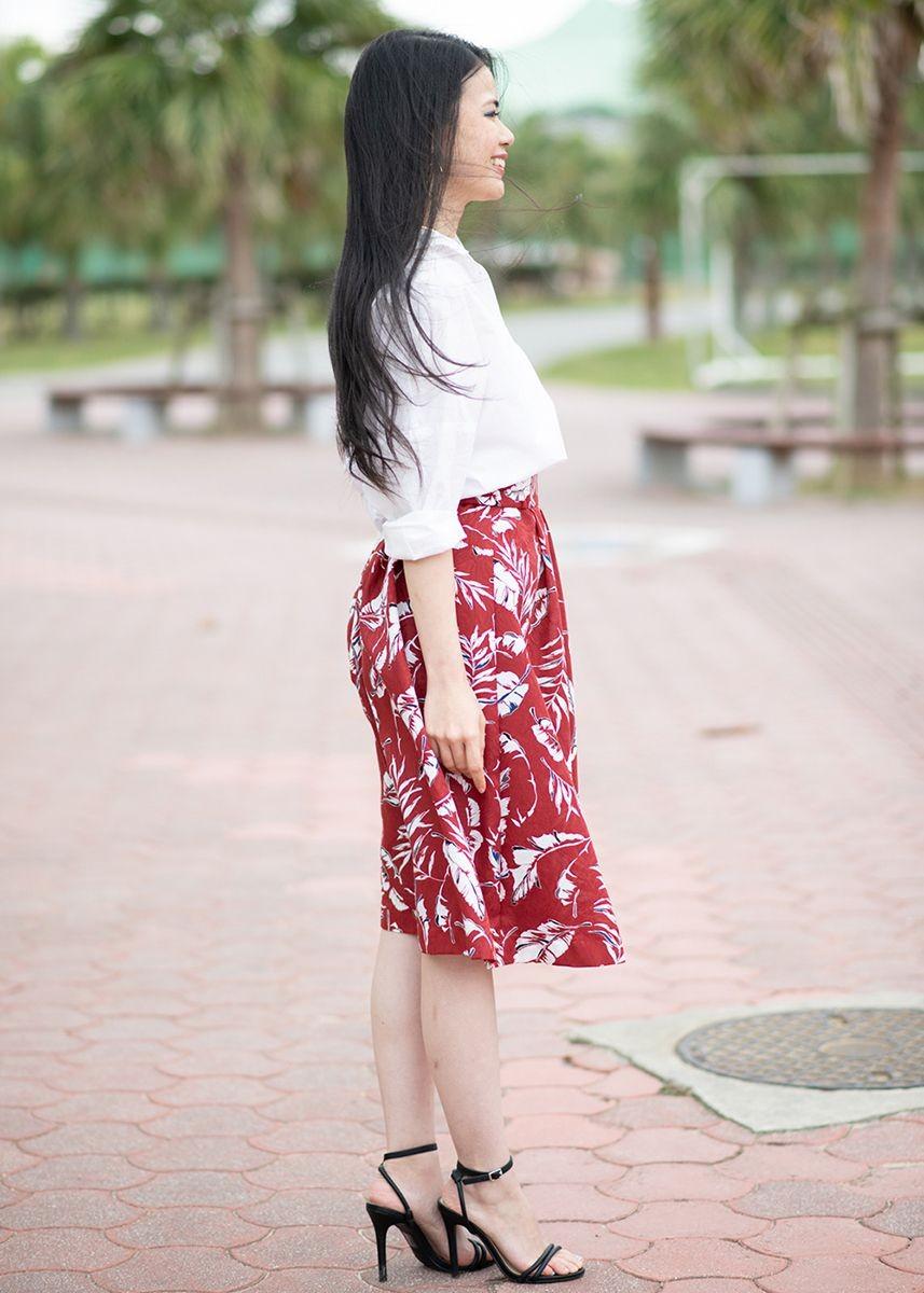 かりゆしウェア アロハシャツ かりゆし 結婚式 MAJUN マジュン イータブルプラント(スカート)