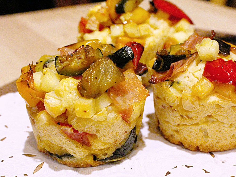 彩り野菜の惣菜マフィン