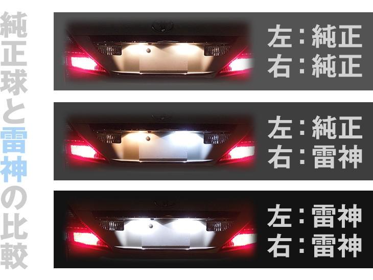 純正球と日亜雷神LED球との比較