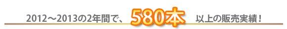 2013-2014の2年間で610本以上を販売した人気の工具です。