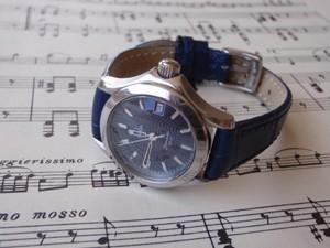 時計ベルトをモレラートのボーレに交換したオメガシーマスター