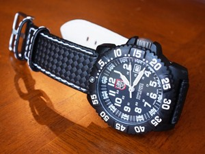 時計ベルトをモレラートのバイキングに交換したLUMINOX 3050