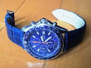 時計ベルトをモレラートのボーレに交換したSEIKO パイロットクロノグラフ SND255