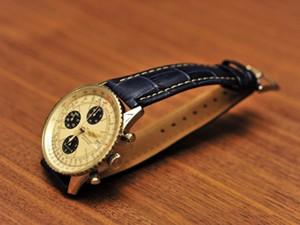 時計ベルトをモレラートのPLUSに交換したブライトリング ナビタイマー