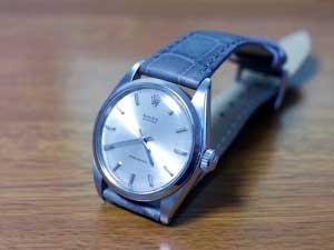時計ベルトをモレラートのボーレに交換したロレックスオイスタープレシジョン手巻き