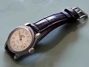 時計ベルトをモレラートのボテロに交換したOris Big Crown Original ポインターデイト