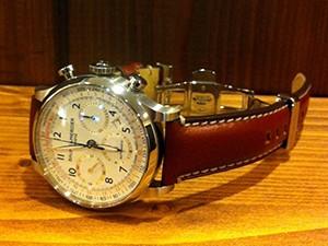 時計ベルトをモレラートのジョルジオーネに交換したボーム&メルシエケープランド10000c
