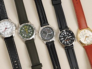 時計ベルトをモレラートのグラフィックに交換したセイコーSCJD002