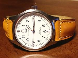 時計ベルトをモレラートのドナテロに交換したIWCマーク15