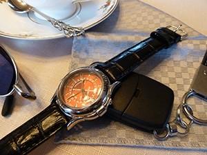 時計ベルトをモレラートのSAMBAに交換したレビュートーメン ランドマーク ラリー