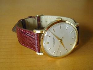 時計ベルトをモレラートのボルテラに交換したIWC Cal.89 1957~58年頃製造