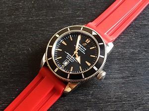 時計ベルトをモレラートのマリナーに交換したBREITLING SUPER OCEAN 46