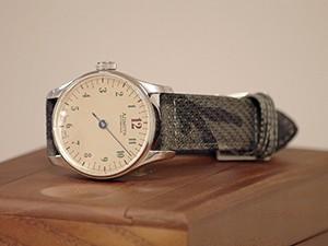 時計ベルトをモレラートのCRICKET CAMOUFLAGEに交換したAZIMUTH back in time(R1-BIT-WHS)