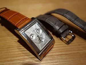 時計ベルトをモレラートのボーレに交換したBVLGARI Rettangolo