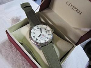 時計ベルトをモレラートのCORDURA/2に交換したCITIZEN / Eco-Driveミリタリースタンダード(SS)海外モデル
