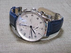 時計ベルトをモレラートのAMADEUSに交換したIWC ポルトギーゼ・クロノグラフ