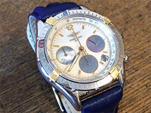 時計ベルトをモレラートのSPEEDに交換したブライトリング