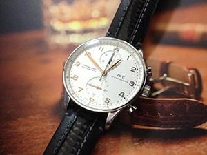 時計ベルトをモレラートのカラテに交換したIWCポルトギーゼクロノ