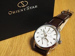 時計ベルトをモレラートのエリートに交換したOrient Star Retrograde