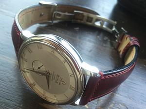 時計ベルトをモレラートのドナテロに交換したオメガデビル