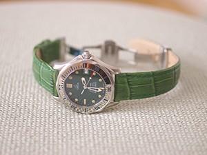 時計ベルトをモレラートのボーレに交換したオメガシーマスタージャックマイヨール