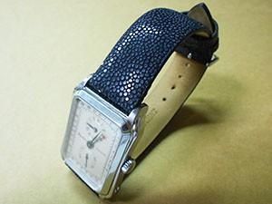 時計ベルトをカシスのガルーシャに交換したEPOS3209SLレクタンギュラレギュレーター
