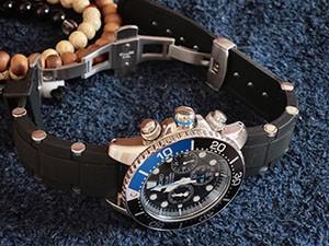時計ベルトをモレラートのユーフラテに交換したセイコーソーラークロノグラフダイバーズ/Ref.SSC017P1