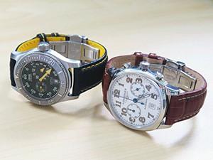 時計ベルトをモレラートのバイキングに交換したORIS ビッグクラウン ダイバーレギュレーター