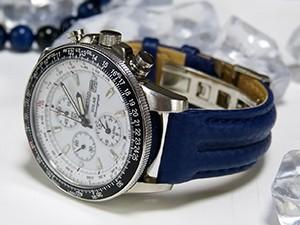 時計ベルトをモレラートのSPEEDに交換したSEIKO ソーラークロノグラフ SSC013P1