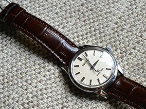 時計ベルトをモレラートのルイジアナに交換したSセイコーグランドセイコーSBGW035