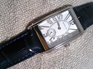 時計ベルトをモレラートのSAMBAに交換したHAMILTON Ardmore Quartz
