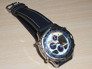 時計ベルトをディモデルのジャンボに交換したシチズンプロマスターナビサーフ