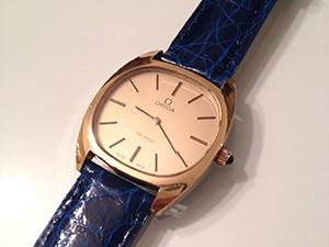 時計ベルトをモレラートのAMADEUSに交換したオメガ デ・ヴィル 1970年代製 手巻き