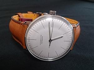 時計ベルトをモレラートのドゥッチオに交換したユンハンスマックスビル