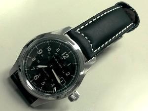 時計ベルトをモレラートのCEZANNEに交換したハミルトン × ナノ・ユニバース Khaki Field Auto(別注)