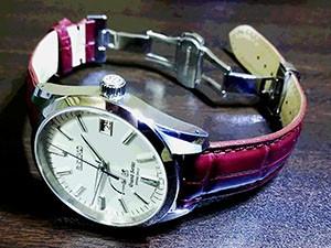 時計ベルトをモレラートのAMADEUSに交換したGSスプリングドライブSBGA099