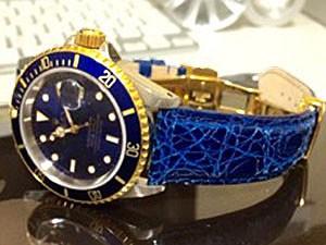 時計ベルトをモレラートのAMADEUSに交換したロレックス サブマリーナーデイト ブルー