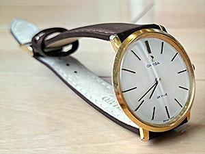 時計ベルトをモレラートのグラフィックに交換したオメガ