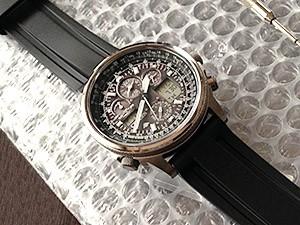 時計ベルトをモレラートのマリナーに交換したCITIZEN PROMASTER SKY
