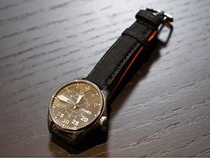 時計ベルトをモレラートのシニャックに交換したHAMILTON KHAKI AVIATION PILOT AUTO 38mm