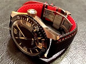 時計ベルトをモレラートのバイキングに交換したシチズン ウォルターウルフ クォーツ