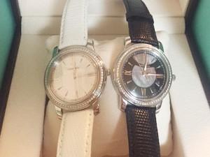 時計ベルトをモレラートのビオリノに交換したティファニー マークダイヤベゼル