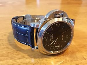 時計ベルトをPLUS に交換したパネライ PAM00111