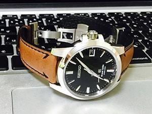時計ベルトをFONTANA (フォンタナ) に交換したグランドセイコー sbga027